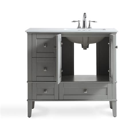 bathroom vanity with offset simpli home chelsea right offset 37 quot single bathroom