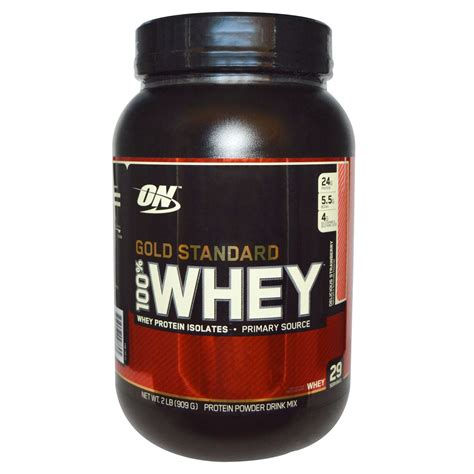 Whey Standard optimum nutrition gold standard 100 whey delicious strawberry 2 lbs 909 g iherb