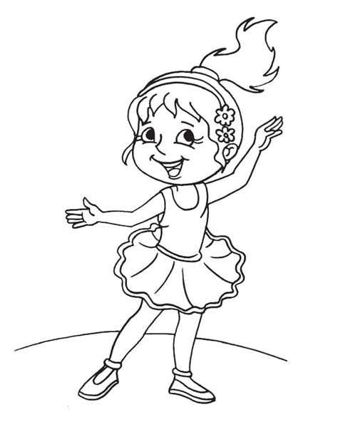 cute ballerina coloring pages cute girl ballet dancer coloring page download free cute