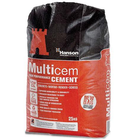 hanson multicem cement 25kg bag