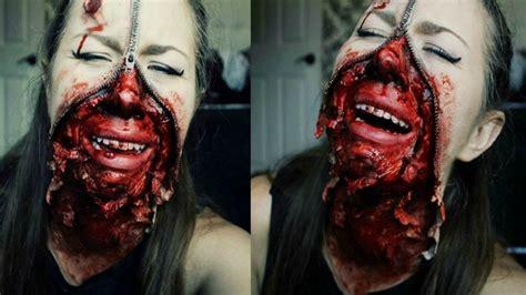 tutorial makeup halloween 2015 zipper face sfx makeup halloween 2015 tutorial youtube