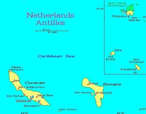 netherland antilles map netherlands antilles