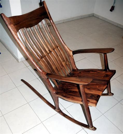 Style Rocking Chair - hessam sane s sam maloof style sculpted rocking chair