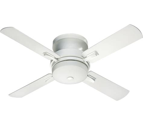 flush mount white ceiling fan with light downmodernhome