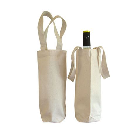 Eco Cotton Wine Bottle Bag 100% Natural Cotton   Luxury Wedding Invitations, Handmade