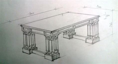 tisch gezeichnet planung entwurf und design m 246 beln der az tischlerei