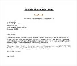 sle thank you letter template 16 free documents
