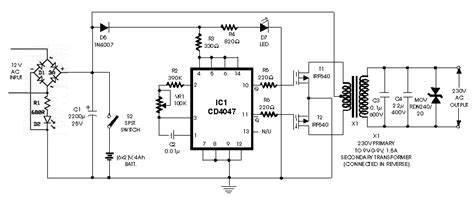 converter dc ke ac berbagi ilmu rangkaian inverter 12v dc to 220v ac 100