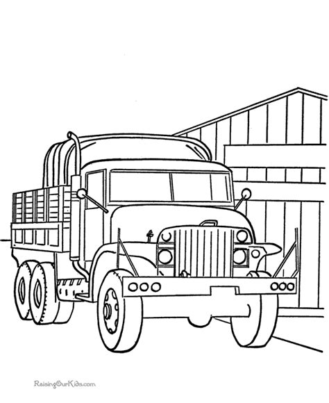 coloring pages of army trucks military truck coloring pages 003