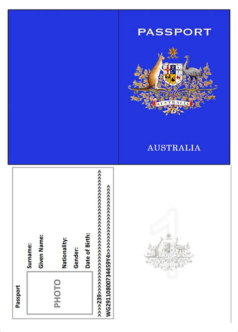 italian passport template how to apply australian passport for newborn howsto co