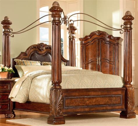 4 poster king bedroom set four poster bedroom sets art regal poster bedroom set