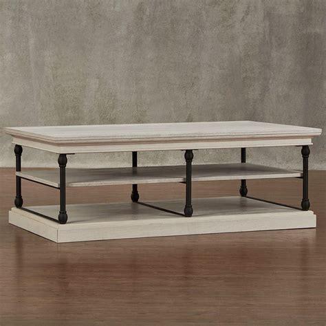 homesullivan manor drive white wash coffee table 40e296wh