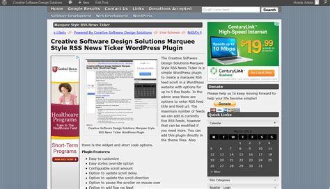 wordpress news layout plugin 187 creative software design solutions marquee style rss