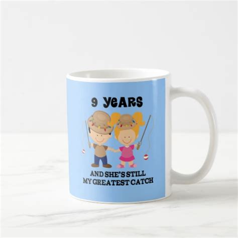 9th anniversary gift ideas for him 9th wedding anniversary gift for him mugs zazzle