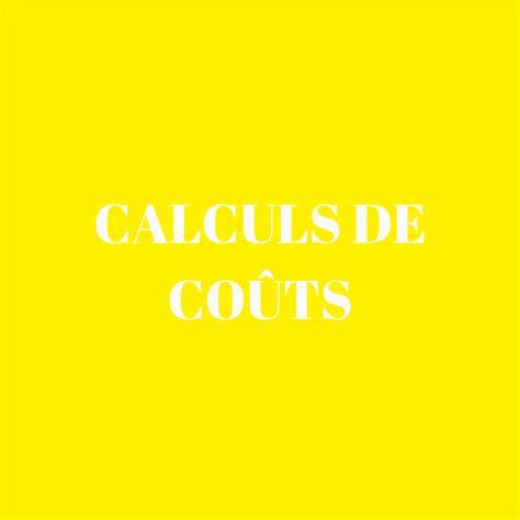 Calculs De Co 251 Ts Co 251 Ts De Revient Cmup F3 Bts Am