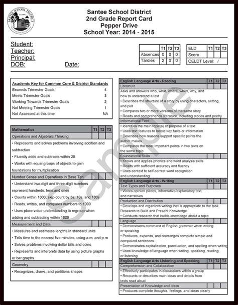 common report card template common report card comments second grade pdf