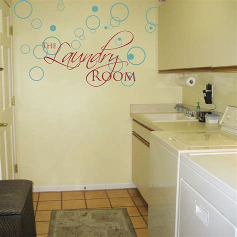 laundry room wall stickers the laundry room lettering and bubbles wall decals