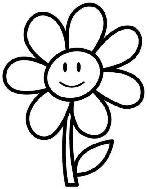 flower coloring pages easy flower coloring pages coloringsuite com