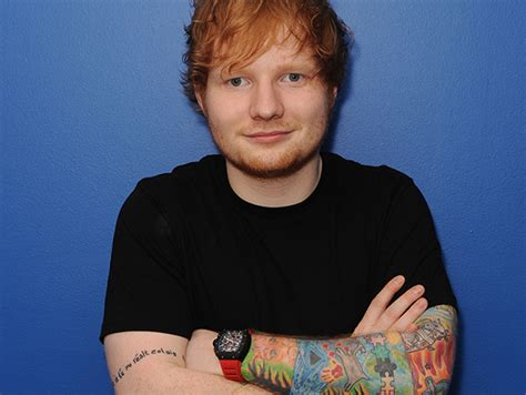 ed sheeran richard mille richard mille rm011 carbon wears it on either red or
