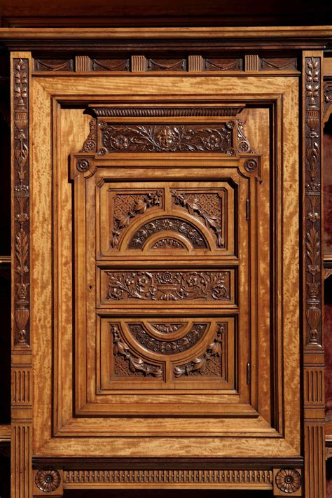 Carved Cabinet by 19th Century Carved Satinwood Cabinet For Sale At