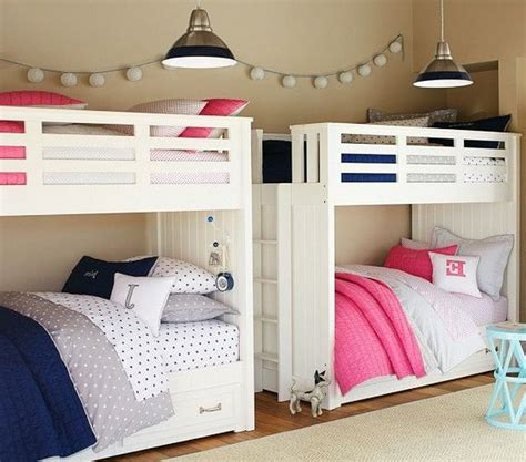 bunk bed decor twin girls bedroom ideas cheap bunk bed bedroom sets orange color covered bedding sheets girls shared bedroom