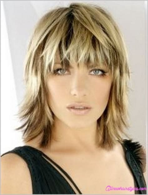 short shag with bangs medium length shaggy bob haircuts allnewhairstyles com