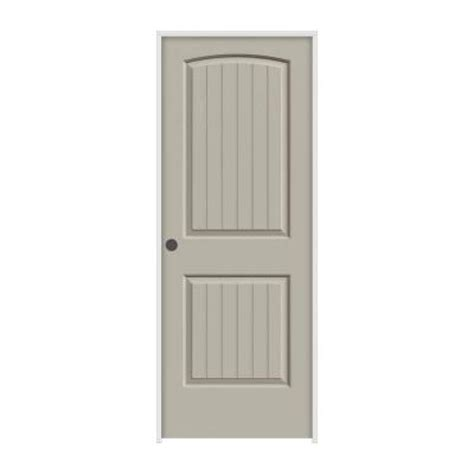 2 Panel Arch Top Interior Doors Jeld Wen Smooth 2 Panel Arch Top V Groove Painted Molded Single Prehung Interior Door