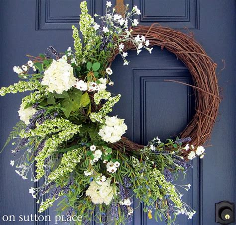 how to make a spring wreath for front door pinterest