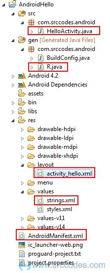 xml layout c android hello world exle using eclipse ide and android