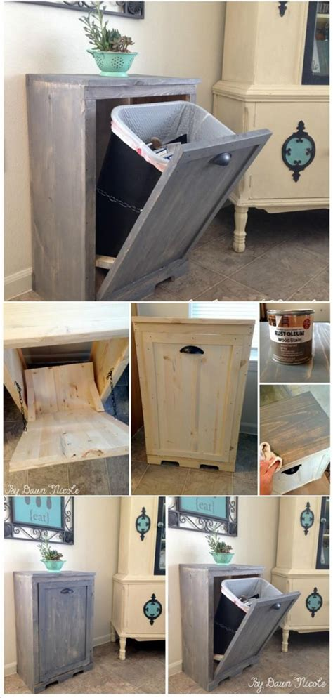 Bathroom Ideas For Remodeling by Hand Built Wooden Tilt Out Trash Can Cabinet 22 Genius
