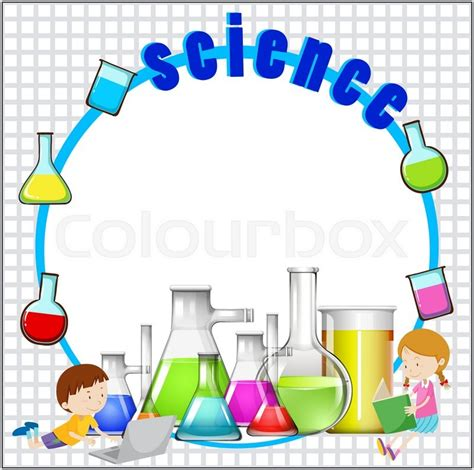 Home Design Jobs Mn Border Design With Science Equipment Illustration Stock