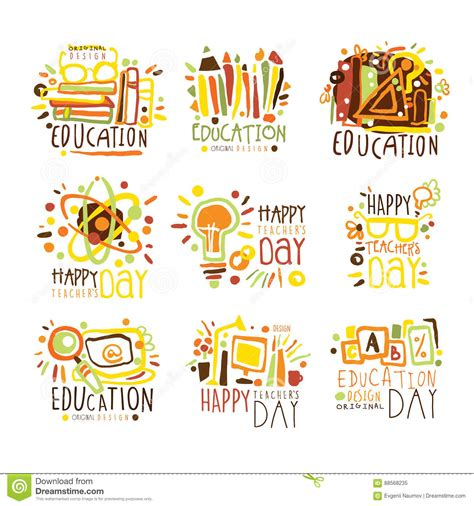happy teachers day card template happy teachers day colorful graphic design template logo