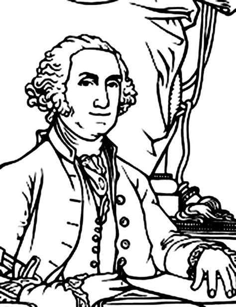 free printable coloring pages george washington george washington was elected in 1788 george washington