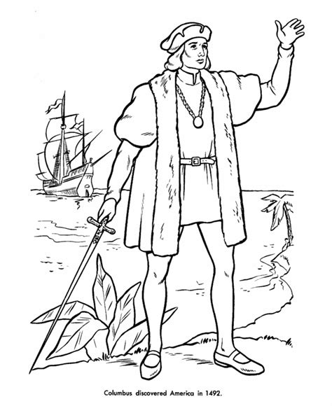 Usa Printables Columbus Discovery Of America Coloring Christopher Columbus Coloring Pages