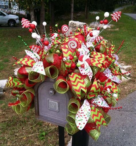 christmas deco mesh mailbox cover www