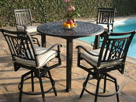 High Table And Chair Set by Outdoor High Table And Chair Set 16458