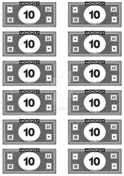 monopoly money 10 s by leighboi on deviantart