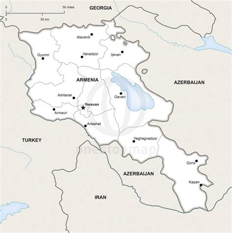 armenia political map vector map of armenia political one stop map