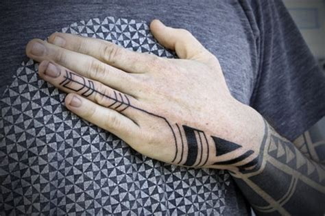 left hand black tattoo images designs