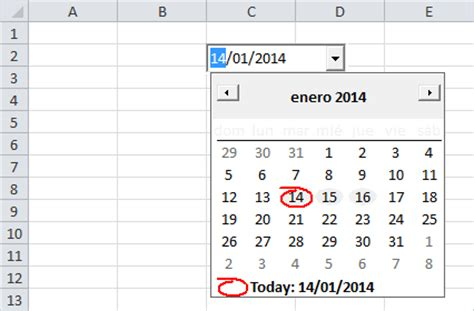 Insertar Calendario Insertar Un Calendario Desplegable En Excel 2010 Excel Total