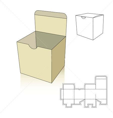 templates for foldable boxes square box template with nail bit corrugated and folding