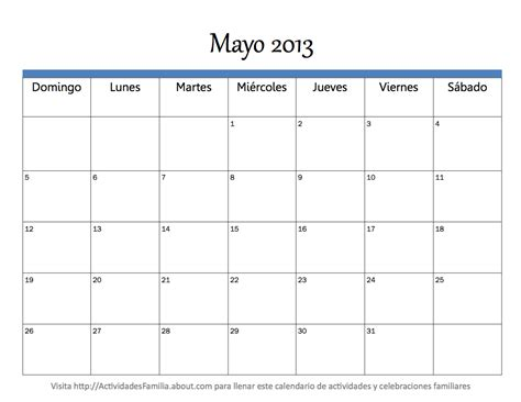 Calendario M Ayo Calendario Mayo 2013 Universo Guia