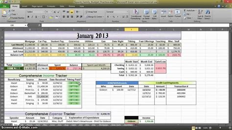 tutorial excel budget how to make a budget in excel aux 3 youtube