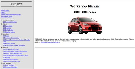 service manuals schematics 2013 ford focus st regenerative braking factory workshop service repair manual ford focus rs st 2010 2016 wiring ebay