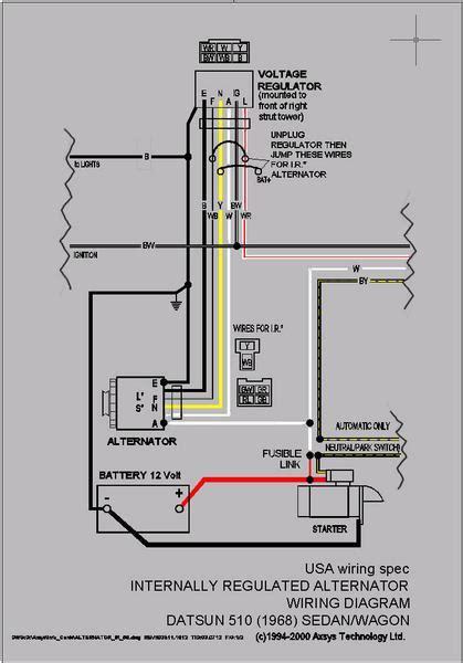 1968 510 4 door voltage regulator wiring the 510 realm