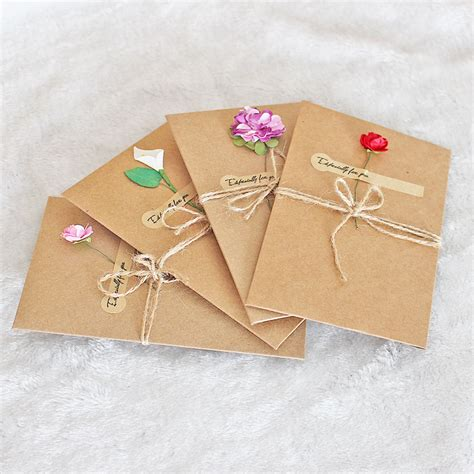 Craft Paper Wedding Invitations - 1pcs sle craft paper flower wedding invitations card