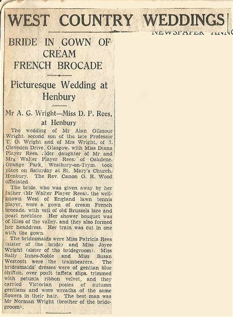 Wedding Announcement Exles For Newspaper by The Story Of A 1940s Cord 233 Handbag Vintage Gal
