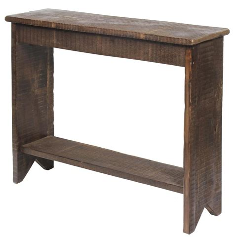 Rustic Hallway Table with Amish Rustic Table
