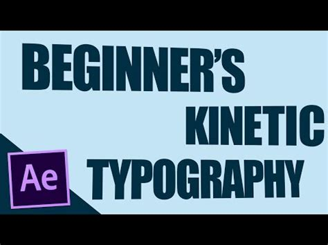 tutorial after effects kinetic typography kinetic typography tutorial doovi