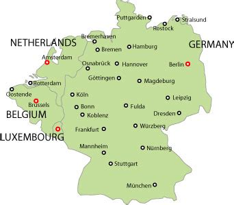 germany and belgium map germany benelux countries